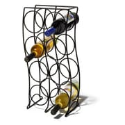 Spectrum Diversified Curve 8 Bottle Tabletop Wine Rack; Black