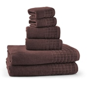 Bonita Maximo Multi Function Clothes Drying Stand with 6 Piece Terry Towel Set; Chocolate