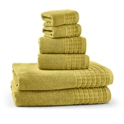 Bonita Maximo Multi Function Clothes Drying Stand with 6 Piece Terry Towel Set; Cream Gold