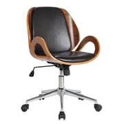 Boraam Rika Desk Adjustable Mid-Back Conference Chair; Black