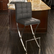 Home Loft Concepts Jacoby Bar Stool with Cushion; Black