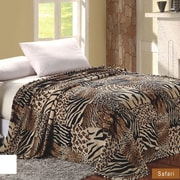 Sweet Home Collection African Safari Animal Skin Super Soft plush Throw Blanket; Queen