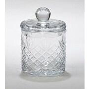 Creative Gifts International Medallion Ii 6.5'' Biscuit Barrel Glass