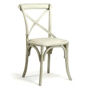 Zentique Inc. Parisienne Cafe Side Chair; Off White