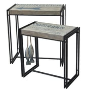 Crestview Fisherman's Wharf 2 Piece Nesting Tables