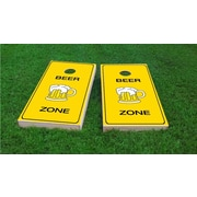 Custom Cornhole Boards Beer Zone Cornhole Game Set; All Weather Plastic Resin