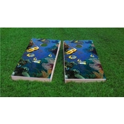 Custom Cornhole Boards Coral Reef with Tropical Fish Cornhole Game Set; All Weather Plastic Resin