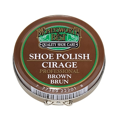 Moneysworth & Best 22201 Professional Paste Polish, Brown, 6/Pack