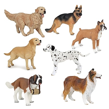 Papo Set of 7 Dogs Hand Painted Figurines