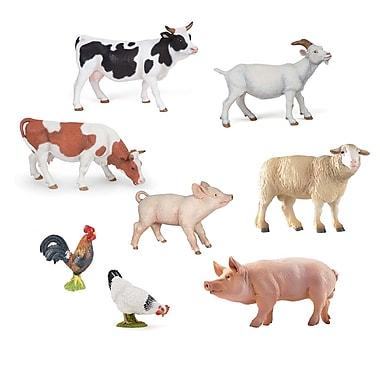 Papo – Ensemble de 8 figurines d'animaux de la ferme, peintes à la main