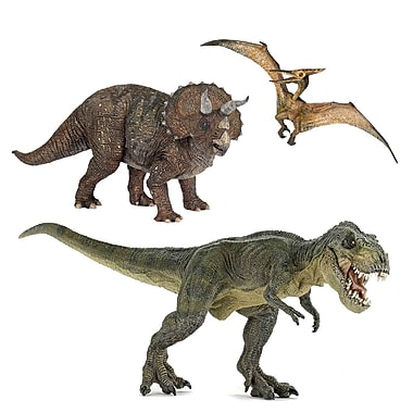 Papo Set of 3 Dinosaurs 2 Hand Painted Figurines