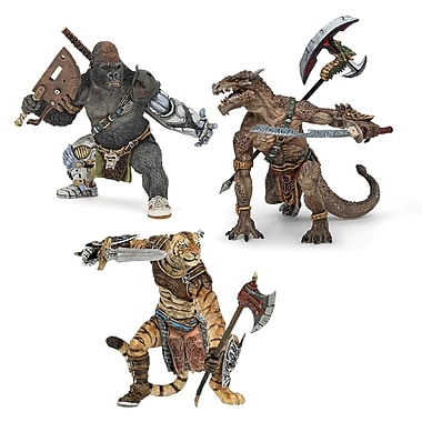 Papo Set of 3 Fantasy Mutant Hand Painted Figurines