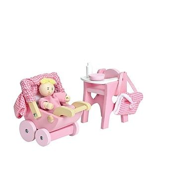 Le Toy Van Nursery Set Pink Scaled For Dollhouses