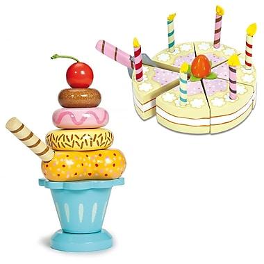 Le Toy Van Set of Vanilla Birthday Cake and Ice Cream Sundae Blue