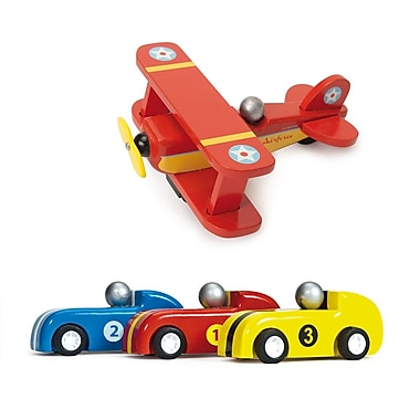 Le Toy Van Plane and Pull Back Racers (3)
