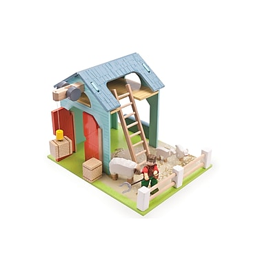 Le Toy Van – Fenil bleu avec mouton et fermier
