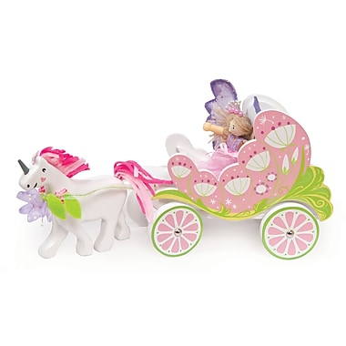 Le Toy Van Fairybelle Carriage with Unicorn and Butterfly Fairy
