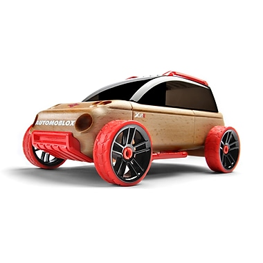 Automoblox X9-X Red/black Sport Utility wooden vehicle