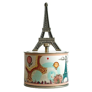 PML SOC205 Socle Casting Wind-up Musical Box, Eiffel Tower Key, La vie en rose