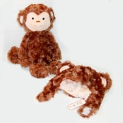 "Zubels Set of Monkey Hat and 16"" Super Soft Plush Monkey"