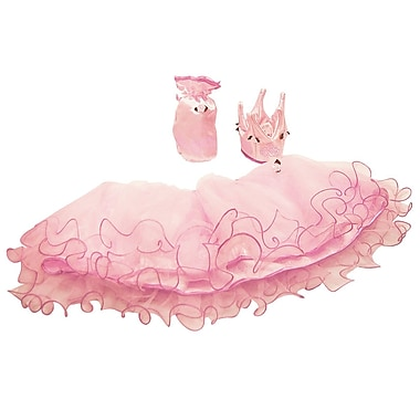 LionTouch Princess Rose Mary Tulle Skirt, Crown and Purse, Pink