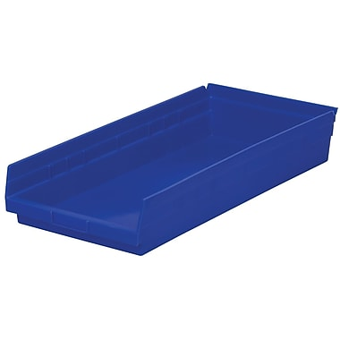 Akro-Mils Shelf Bin,23-5/8 x 11-1/8 x 4, Green