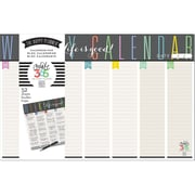 "Create 365 Weekly Calendar Pad, Life is Good, 11"" x 17"", (PADS-01)"