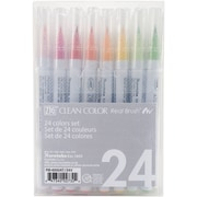 Zig Clean Color Real Brush Markers, 24/Pack (RB600024)