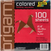 "Folia 8"" x 8"" Assorted Solid Colors Origami Paper (8920)"