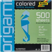 "Folia 8""x8"" Assorted Colors Origami Paper (8970)"