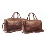 Aston Leather 24'' Leather Travel Duffel; Brown