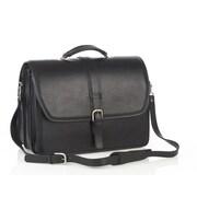 Aston Leather Leather Laptop Briefcase; Black