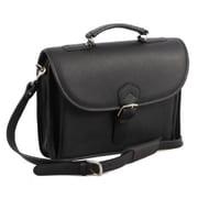 Aston Leather Leather Briefcase; Black