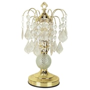 ORE Furniture Glass 15'' H Table Lamp with Novelty Shade