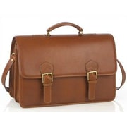 Aston Leather Leather Briefcase; Tan