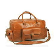 Aston Leather 18'' Leather Overnight Carry-On Duffel; Brown