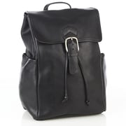 Aston Leather Backpack with Side Pockets; Tan