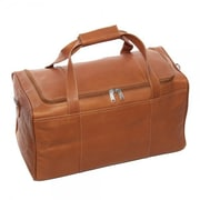Piel 16.5'' Duffel Bag; Chocolate