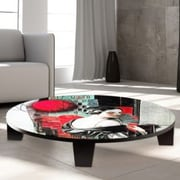 TAF DECOR Echoes of Yesterday Table Art; 44'' W x 44'' D