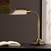 Wildon Home   Ottlite Montero Task 23'' H Table Lamp w/ Novelty Shade; Honey Brass