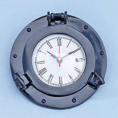 Handcrafted Nautical Decor 8 '' Deluxe Class Porthole Wall Clock