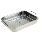 Imperial Home 16'' Stainless Steel Heavy Duty Roasting Pan with Rack