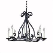 World Imports Lighting Iron Lanterns 8 Light Chandelier