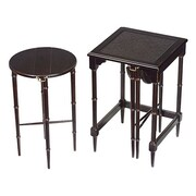 Bailey Street 2 Piece Nesting Tables; Black