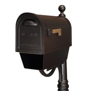 Special Lite Products Post Mounted Mailbox; Black