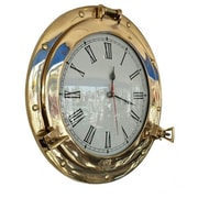 Handcrafted Nautical Decor Deluxe Class Porthole 12'' Clock