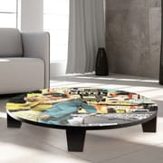 TAF DECOR It's my Life Table Art; 35'' W x 35'' D