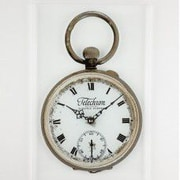 Control Brand 10.63'' Pocket Watch Wall Clock