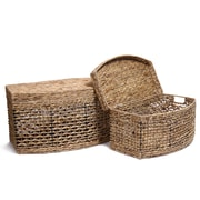 AdecoTrading 2 Piece Seagrass Chest Basket Set