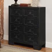Coast to Coast Imports Magee 2 Door and 1 Drawer Cabinet; Black
